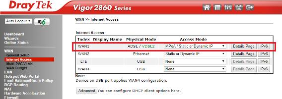 How to Connect DrayTek Vigor2860 / Vigor2862 to VDSL2